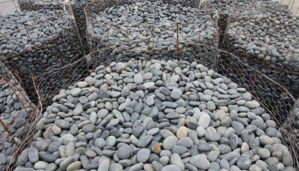 Bulk blue beach garden pebbles