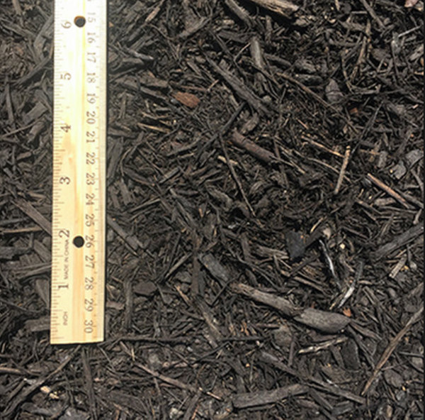 Dyed Black Hardwood Mulch