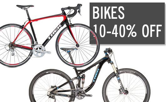 Bikes 10-40% off