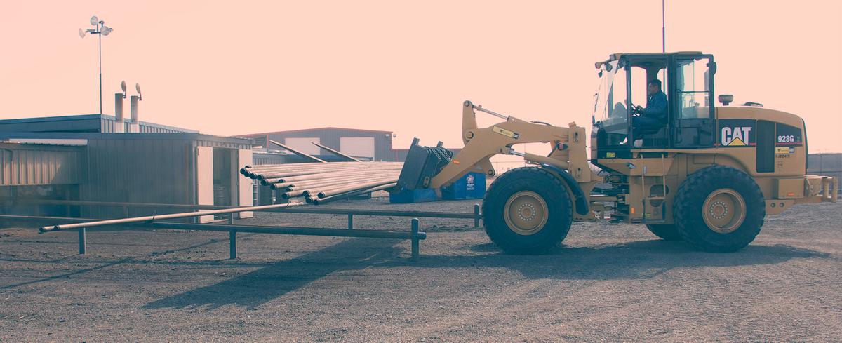 Equipment at Platinum Pipe Rentals in Odessa, TX