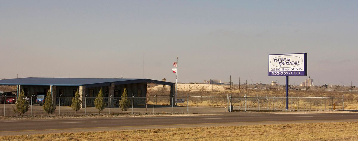 Platinum Pipe Rentals facility in Odessa, TX