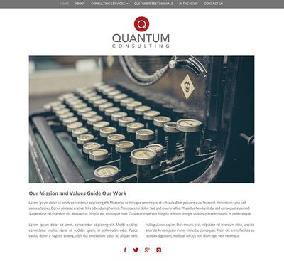 Website Template Quantum