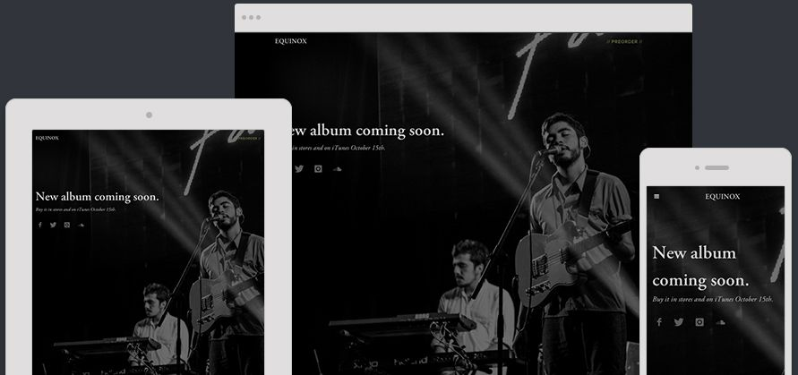 Website Template Equinox Expanded