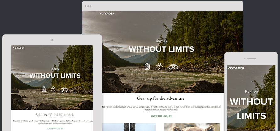 Website Template Voyager Expanded