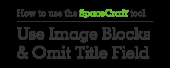 """SpaceCraft"" graphic title example"
