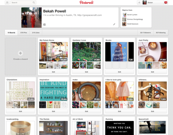 Pinterest boards for Business