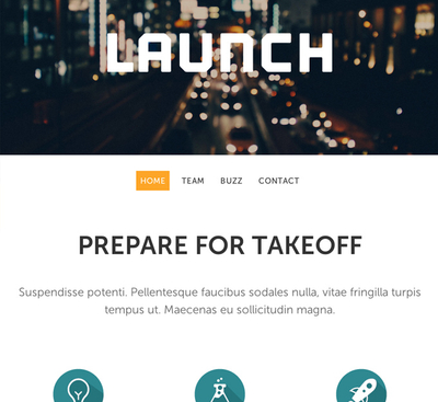 Website Template Launch