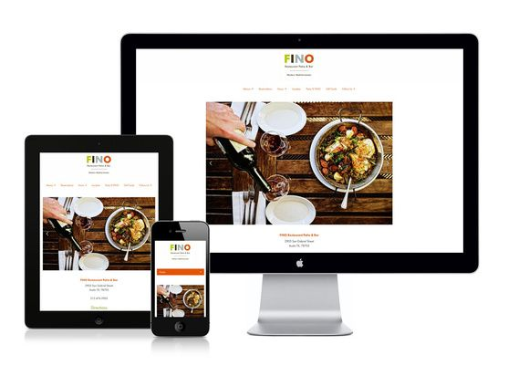 FINO website on three devices