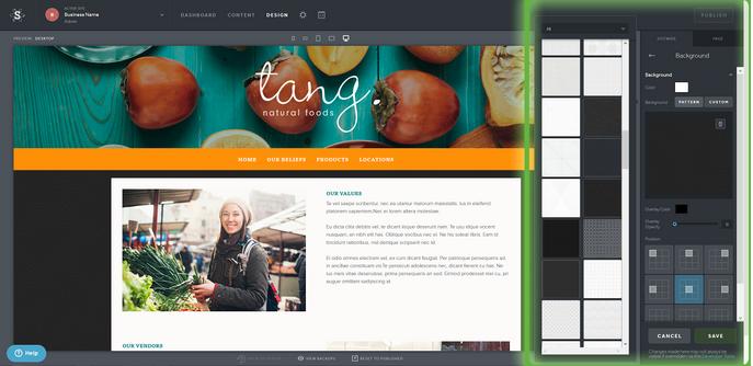 Change website background images