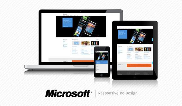 Microsoft Responsive Redesign
