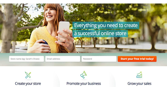 BigCommerce.com home page