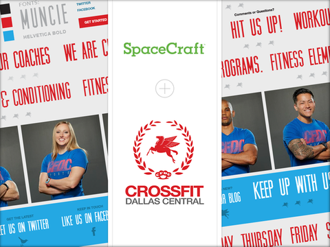 Dallas Crossfit team page on their SpaceCraft website.