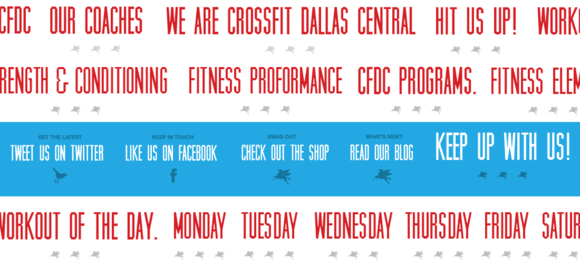 Dallas Crossfit website image titles