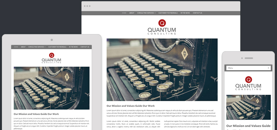 Website Template Quantum Expanded