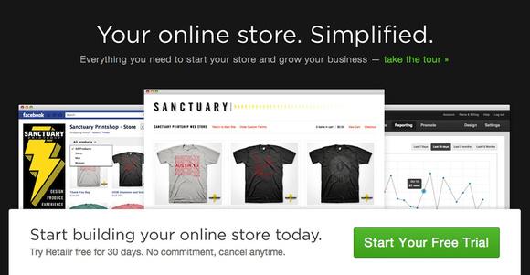 RetailrApp.com home page