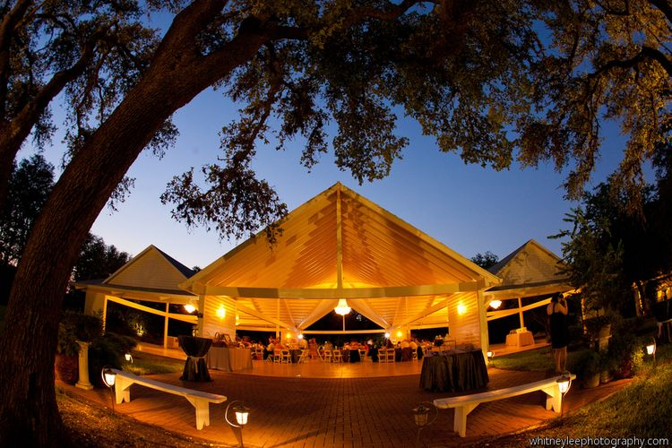Outdoor Covered Wedding Venue in Texas Hill Country