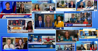 Collage of news reports