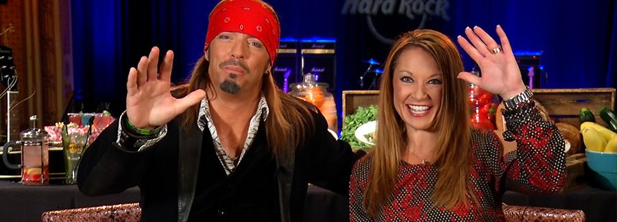 Entertainment stars being interviewed