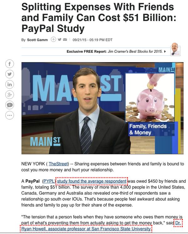 The Street article screenshot