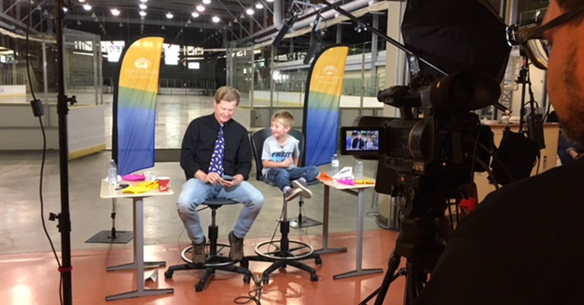 Studio taping news report