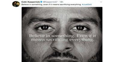 Colin Kaepernick social media post