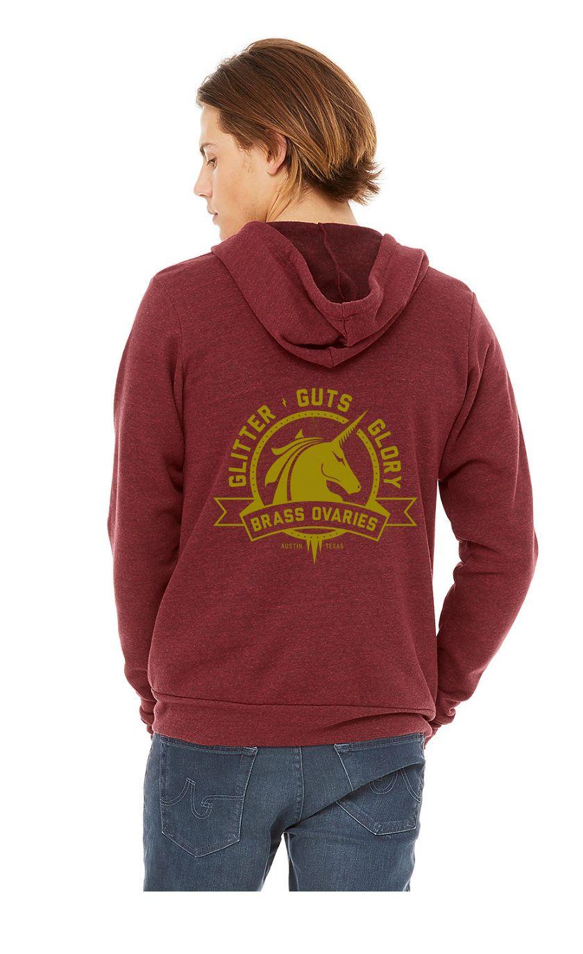 Brass Ovaries Maroon hoodie mock.jpg