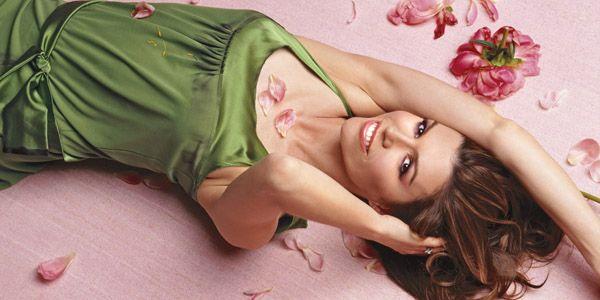 finola hughes floral laying down.jpg