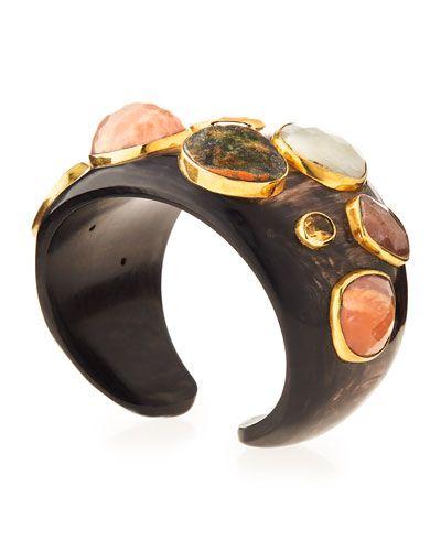 Mawe Dark Horn Cuff Bracelet.jpg