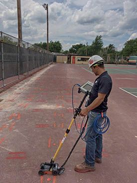 Gpr Scanning For Post Tensioned Cables Dallas Tx Private Utility Locators
