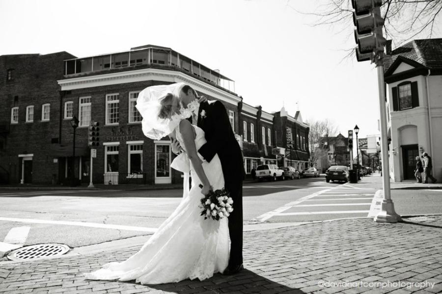 wedding shot black and white