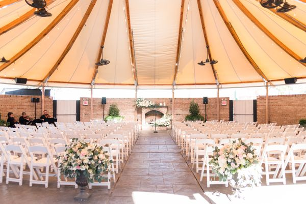 Gold Ballroom Garden Ceremony