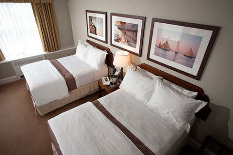 Luxury hotel guest rooms