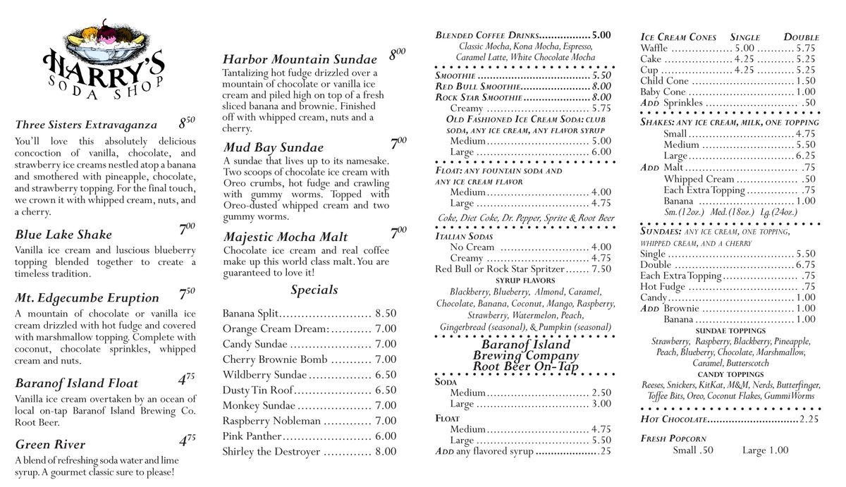 soda menu