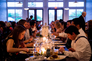 Candle Lit Wedding Dinner Venue