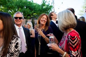 Patio Wedding Reception Guests
