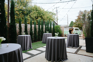 Patio Wedding Ceremony Decorating