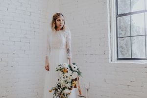 Bridal Portrait White Brick