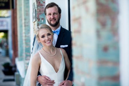Bridal Portrait Exposed Brick