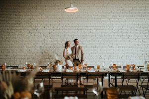 Custom Farm Tables Industrial Wedding Reception