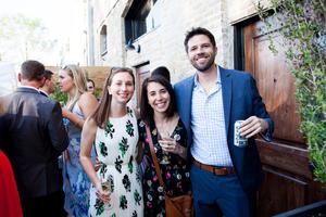 Outdoor Patio Wedding Reception