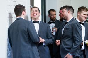 Groomsman Huddle Wedding