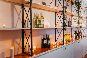 Modern Bar Wedding Decor