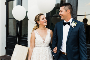 Small Town StoreFront Wedding Photos