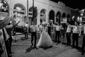 Austin Outdoor Nighttime Wedding