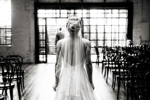 Black And White Industrial Doors Wedding