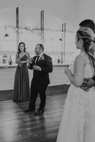 Wedding Toast Black and White Photography