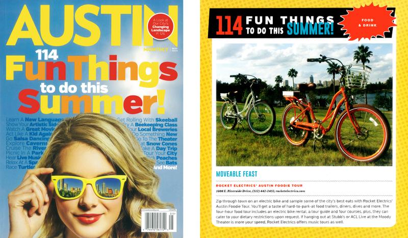 Austin Monthly Rocket Electrics Fun Things