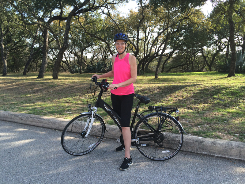 cyndi and her ebike