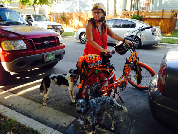 Lynne with P&P ebike