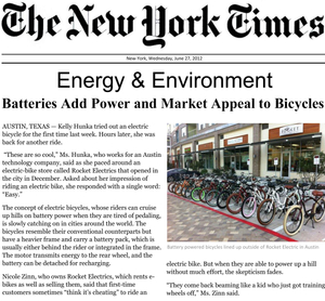 New York Times Rocket Electric